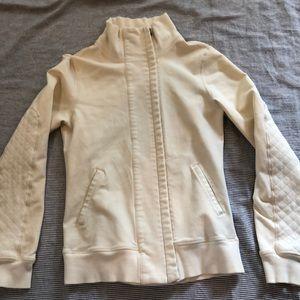 Lululemon Cream zip up jacket 6